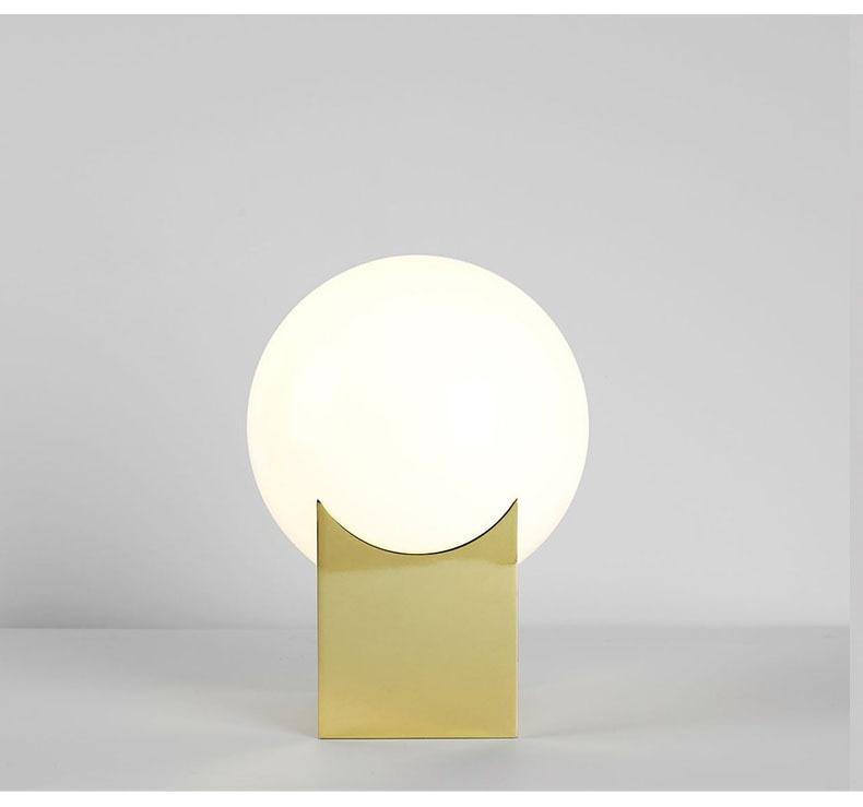 Glas Gold Tisch Lampe Kreative Büro Tisch Lampe Nordic Moderne Minimalistischen Post moderne tisch lampe Hause Schlafzimmer Studie Zimmer - 4