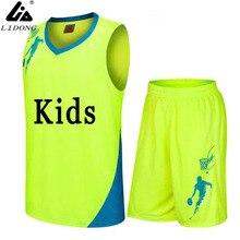 boys/Kids Basketball Jerseys Sets Uniforms kits custom Child Sports clothes Breathable Youth sports running jersey shirts shorts