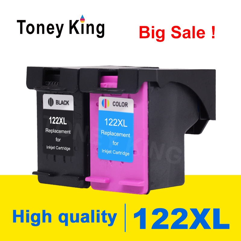 Toney King 122XL Remanufactured Ink Cartridge Replacement For <font><b>HP</b></font> <font><b>122</b></font> For <font><b>HP</b></font> Deskjet 2050s 3000 3052A 3054 3540 1000 2000 Printer image