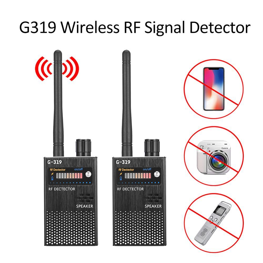 G319 Anti-GPS Locator Cell Phone Detector Wireless RF Signal Detector Full Range Bug Detector Finder Protect Security (EU Plug)