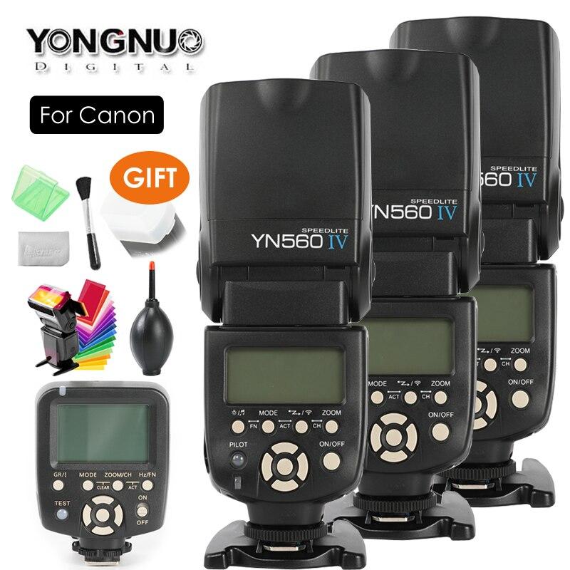 YONGNUO YN560 IV, YN-560 IV Maître Radio Flash Speedlite Flash + YN-560TX Contrôleur pour Canon 5DIV 650D 1200D 7DII 5DII REFLEX