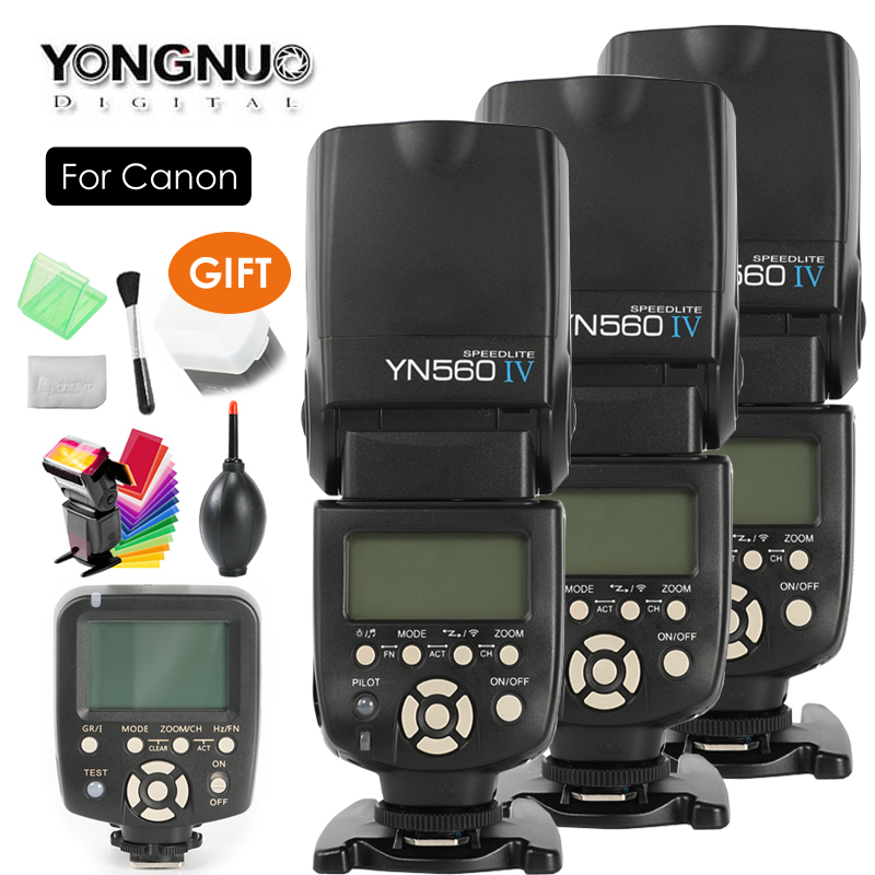 YONGNUO YN560 IV,YN-560 IV Master Radio Flash Speedlite Speedlight + YN-560TX Controller for Canon 5DIV 650D 1200D 7DII 5DII SLR original yongnuo yn560 iv yn 560 iv master radio flash speedlite rf 605 wireless trigger for canon 1000d 650d 600d 550d dslr