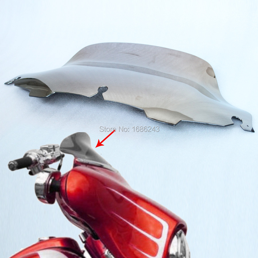 New Chrome 8 Smoke Wave Windscreen Windshield For Harley 1996-2013 Electra Street Glide FLHTC FLHX FLHT Touring Free Shipping