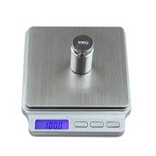 Цифровой Карманный грамм весы 2000 г x г 0,1 г кухня пособия по кулинарии весом инструменты электронный Баланс Вес весы нержавеющая сталь платф…