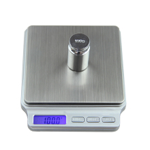 Digital Pocket Gram Scale 2000g x 0.1g Kitchen Cooking Weighing Tools Electronic Balance Weight Scale Stainless Steel Platform acct 2000g x 0 1g mini weight scale portable electronic digital scale pocket kitchen jewelry high accuracy balance silver tools