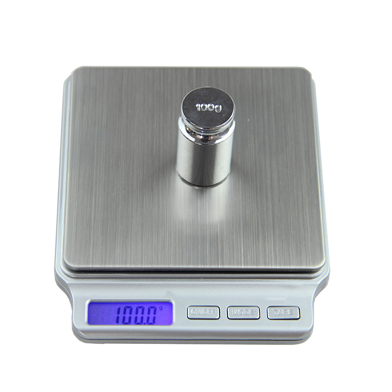 Digital Pocket Gram Scale 2000g x 0.1g Kitchen Cooking Weighing Tools Electronic Balance Weight Scale Stainless Steel Platform