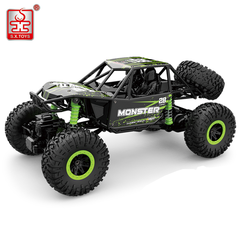 S.<font><b>X</b></font>.TOYS RC Car 4WD 2.4GHz Rock Crawlers Rally Climbing 4x4 Double Motors Bigfoot Car Remote Control Model Off-Road Vehicle Toy