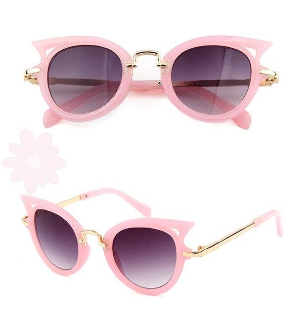 775dfa0a8ad3e NOVO 2019 Bonito Do Coração Crianças óculos de sol óculos de proteção UV  Óculos De Sol