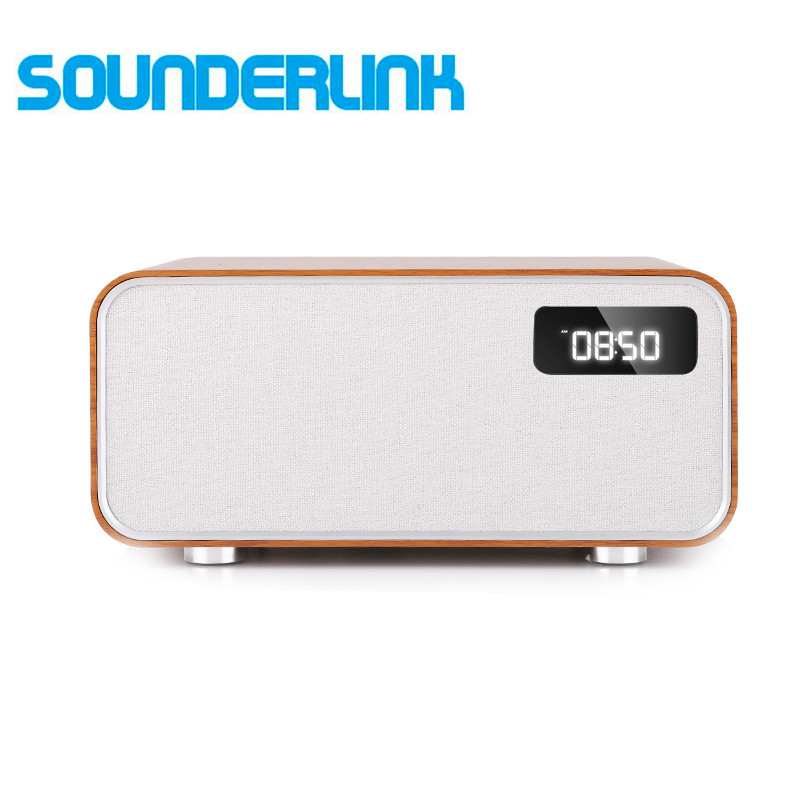 Sounderlink Neus Retro Wood Wireless Bluetooth Smart TV Home Theater Power Home Speaker Boombox Bedroom Clock HiFi Sound Quality