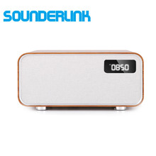 цены Sounderlink Neus Retro wood Wireless Bluetooth Smart TV home theater Power home Speaker boombox bedroom clock HiFi Sound quality