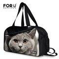 Moda Multiuso Gato Animal Impresión de Fitness Bolsa de Marca A Prueba de agua Al Aire Libre Bolsas de Deporte Bolsa de Deporte de Lona de Los Hombres Bolsa