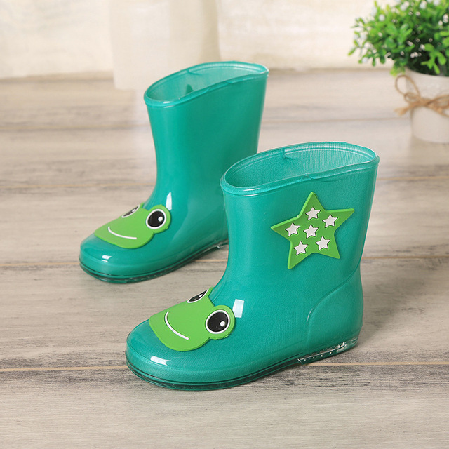 Hot Sale Kids Cartoon Rainboots Brand Girls Boys Antiskid Lovely Cartoon Rainboots 6 Color Free Shipping YY0528