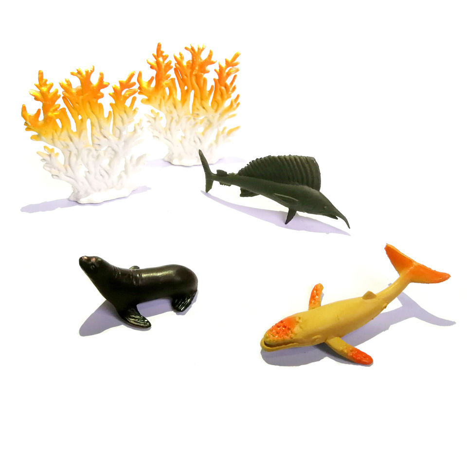 WITHYOU 12pcs/set Plastic Mini Dinosaur Toy Model Ocean Sea Animal Action Figures 29