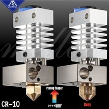 Mellow Top All Metal CR10 Hotend Bloque de cobre chapado y rotura de calor de titanio impresión 3D j head Hotend para ender 3 cr10, etc.