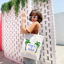 2019 Fashion Ladies Handbags Canvas Bag Cotton Shopping Travel Women Eco Reusable Shoulder Shopper Bags Christmas Gift Tote