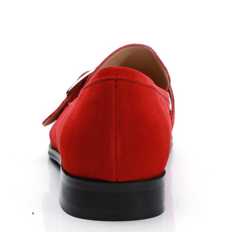 Moda di Lusso Scarpe Formali Casuali Per Gli Uomini Nero/rosso Vera Pelle Nappa Uomini Scarpe Da Sposa Oro Metallizzato Mens Studded mocassini - 5