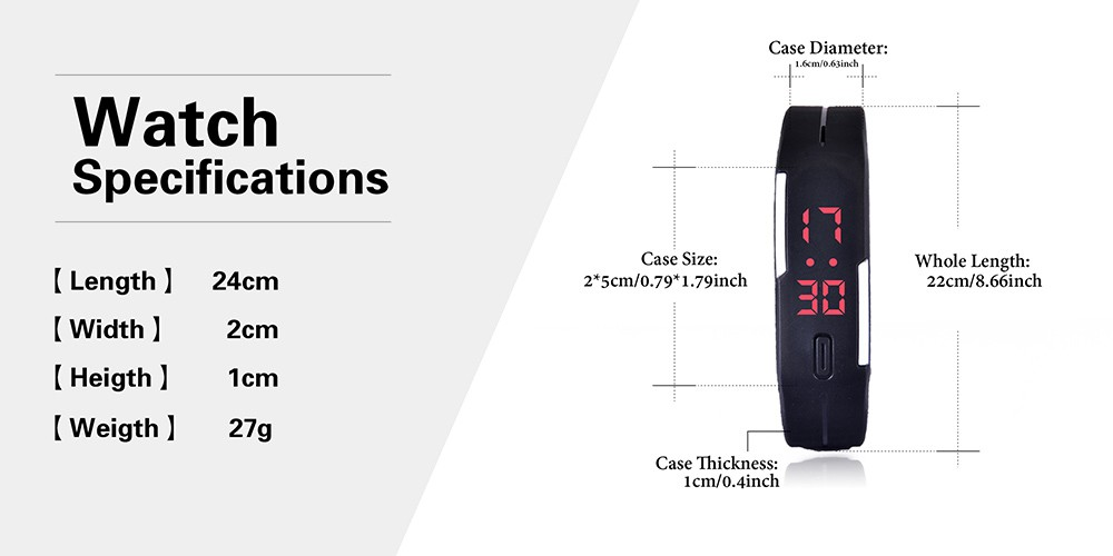Candy Color Men's Women's Watch Rubber Led Kids Watches Date Bracelet Digital Sports Wristwatch For Student #4