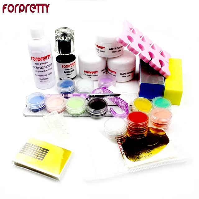 FORPRETTY Acrilico Polvo Nail Kit Acrylic Powder 12 Color Acryl ...