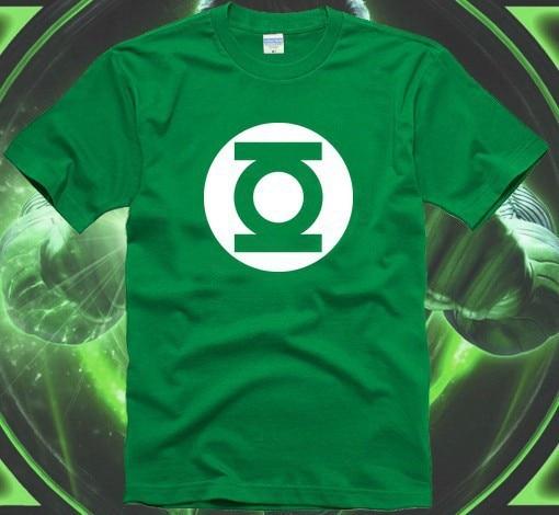 ECTIC nouveaux sitcoms de livraison gratuite La théorie du big bang Sheldon Green Lantern hommes homme mâle été manches courtes t-shirt