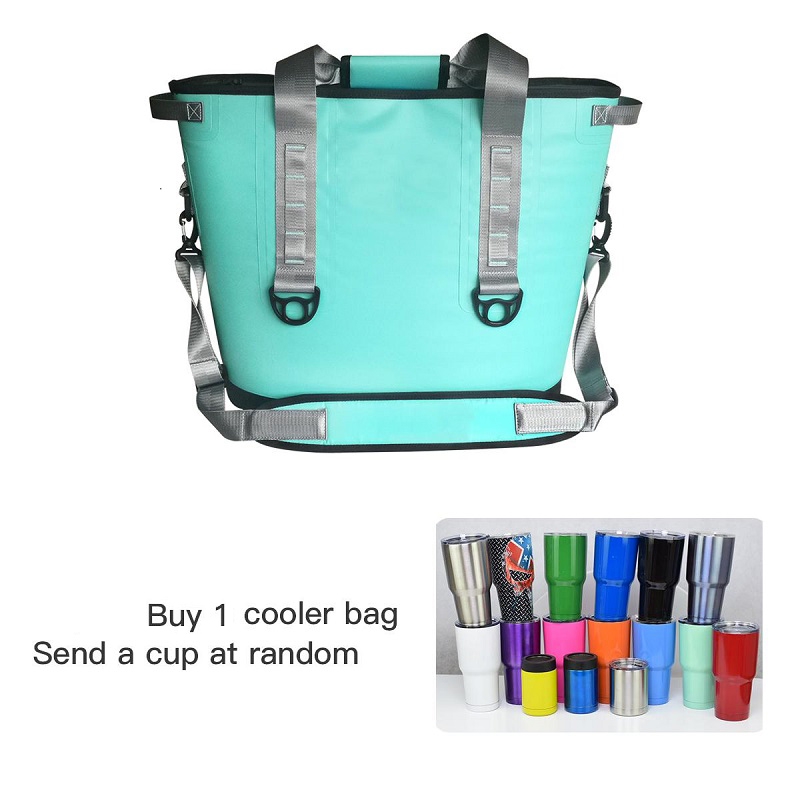 все цены на GZLBO New design cooler bag 20cans 30cans Waterproof lunch picnic beer wine soft cooler bag,send cups at Random