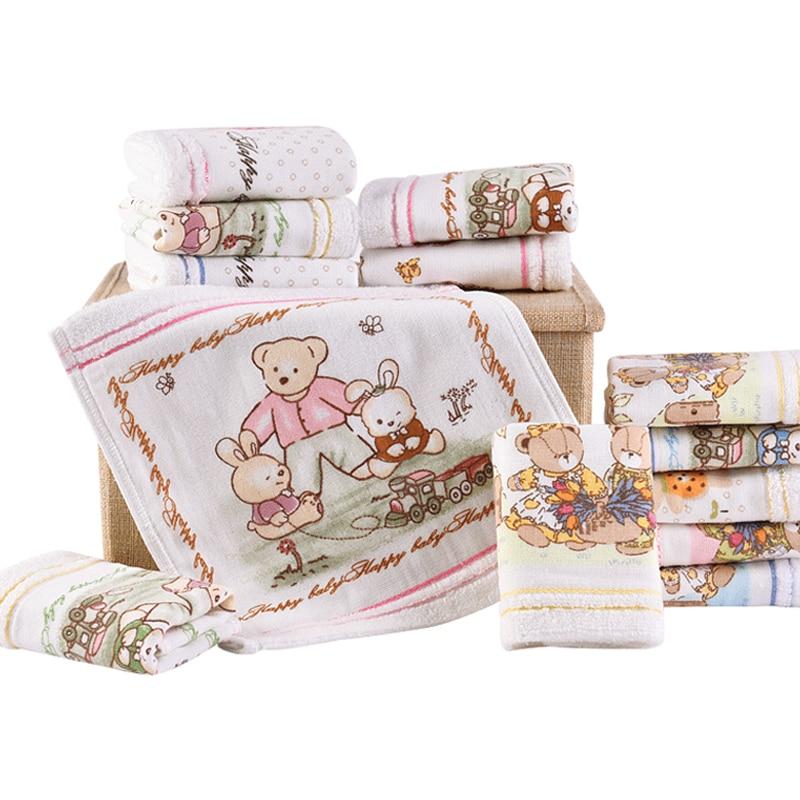 Cartoon Cotton Towels Soft Baby Towel Handkerchief For Infant Kid Children Feeding Bathing Face Washing Ho AD0442