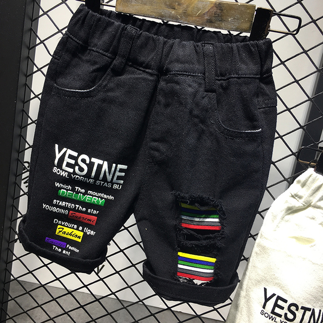 New fashion toddler boy jeans short pants broken hole shorts summer kids children denim jeans shorts trousers 2-6yrs Kids Wear