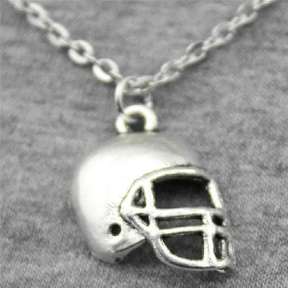 WYSIWYG 20x15mm Football Helmets Necklace Jewelry Gift For Women