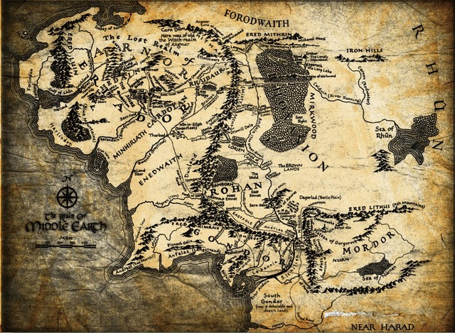 Free shippingThe Lord of the RingsmapMiddle earth MoviePoster