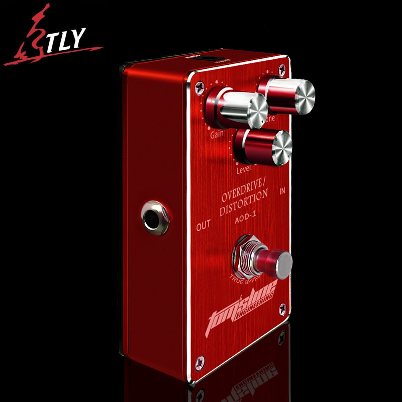 AROMA AOD-1 Ture Bypass Overdrive Distortion Electric Guitar Effect Pedal Aluminum Alloy Housing Design Guitar Pedal aroma tom sline abr 3 mini booster electric guitar effect pedal with aluminum alloy housing true bypass durable guitar parts