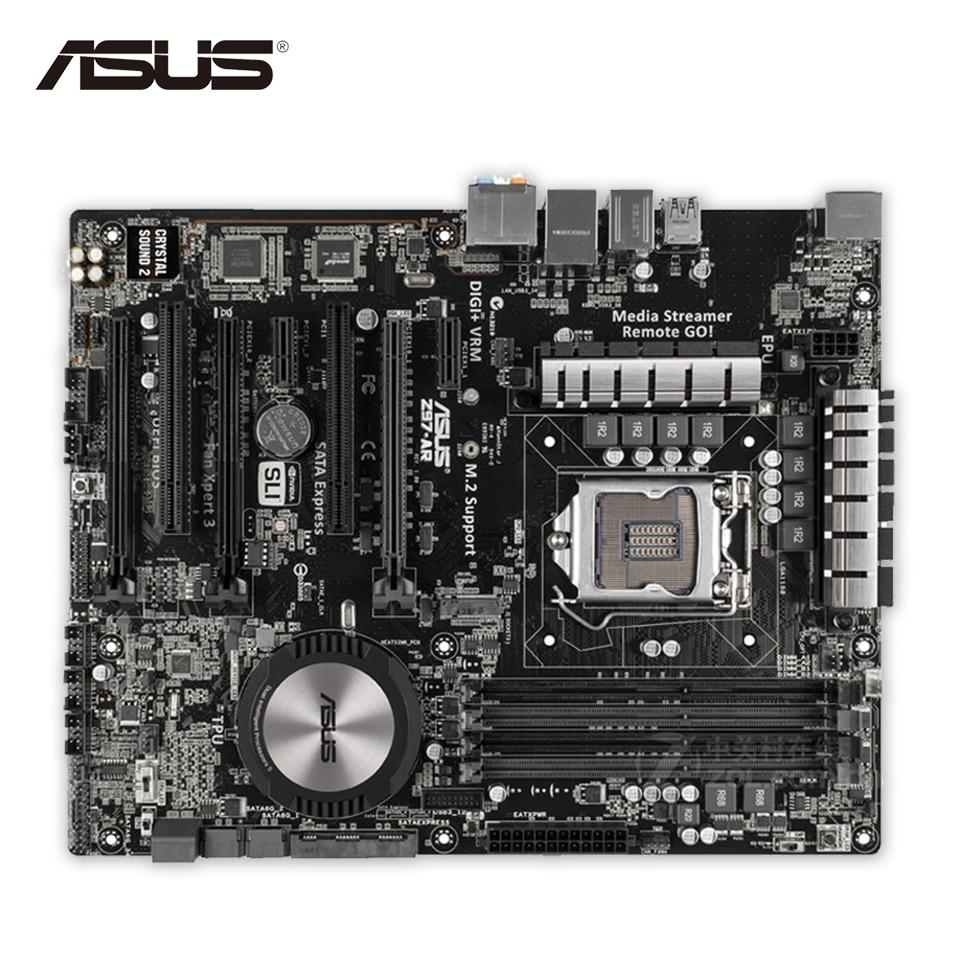 Asus Z97-AR Original Used Desktop Motherboard Z97 Socket LGA 1150 i7 i5 i3 DDR3 32G SATA3 USB3.0 ATX asus z97 a