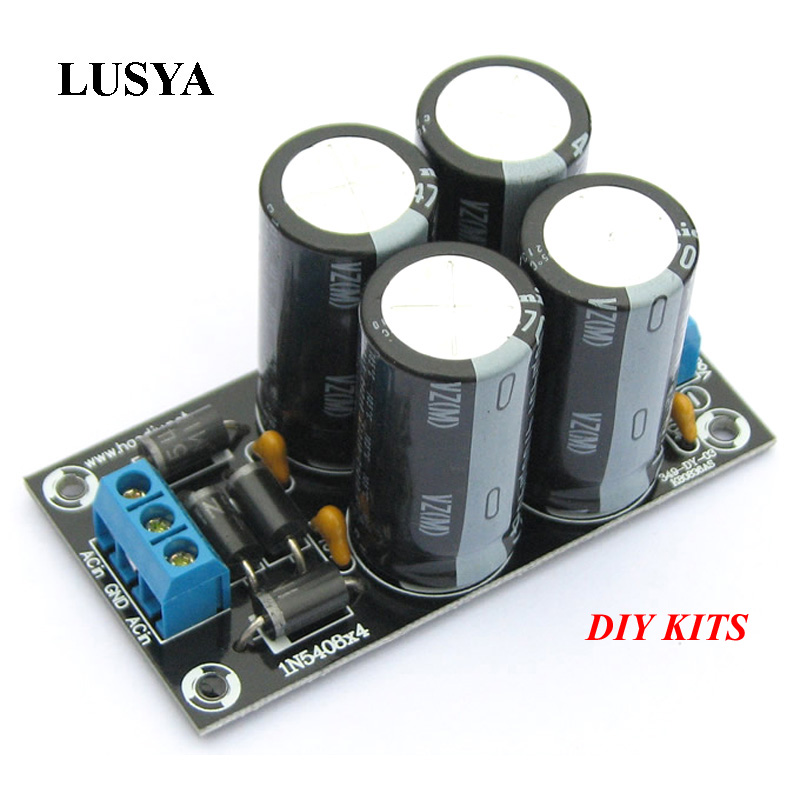Lusya DIY KITS Amplifier Rectifier Filter Board 4x4700UF/4x3000uf Large Capacitor Full Bridge Filter Amplifiers