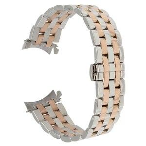 Image 5 - 18mm 20mm 22mm 24mm ze stali nierdzewnej Watch Band zakrzywiony pasek dla Frederique Constant pasek do zegarka motyl bransoleta