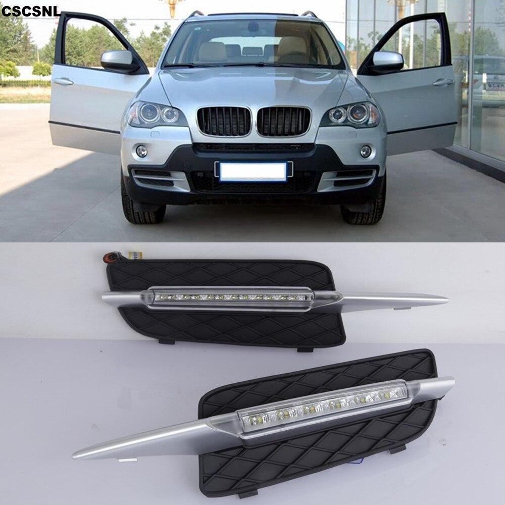 2x LED DRL Daytime Running Light Bumper Fog Lamp+Wiring for 11-13 E70 X5 M-Sport