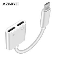 AZiMiYO headphone adapter splitter compatible for iPhone 7 8 plus XS Max XR earphone