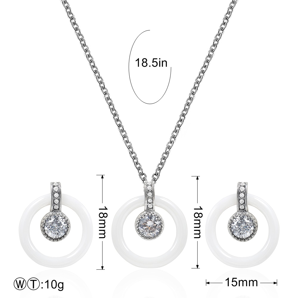 TL Unique Round Ring Floating Locket Glass Pendant Necklace&Earrings Jewelry Set Wishing Bottle For Children Family Love