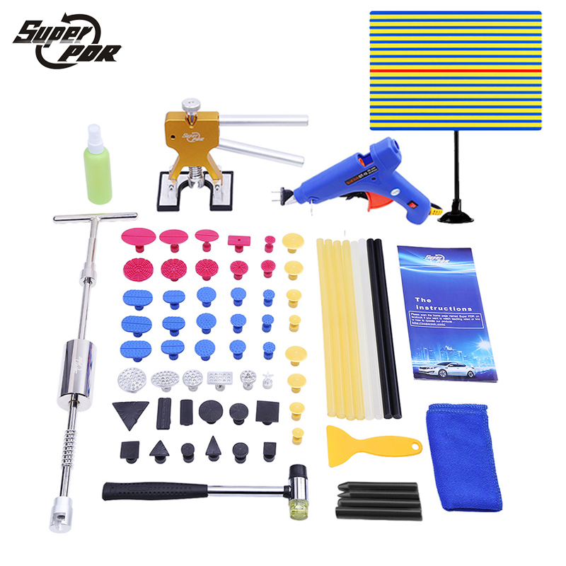 Paintless Dent Repair PDR Tools Lamp Reflector Board Dent puller slide hammer Hand Tool Set PDR Dent Removal Tools pdr tools for car tool set paintless dent repair tools dent puller led lamp reflector board hand tool set pdr kit