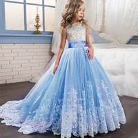 Butterfly Embroidey Dress for Girls Elegant Princess Flower Girls Wedding Birthday Party Kids Dresses For Girls Children Clothes