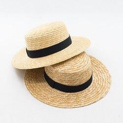 Muchique boater hats for women summer sun straw hat with wide brim beach hats girl 2017.jpg 250x250