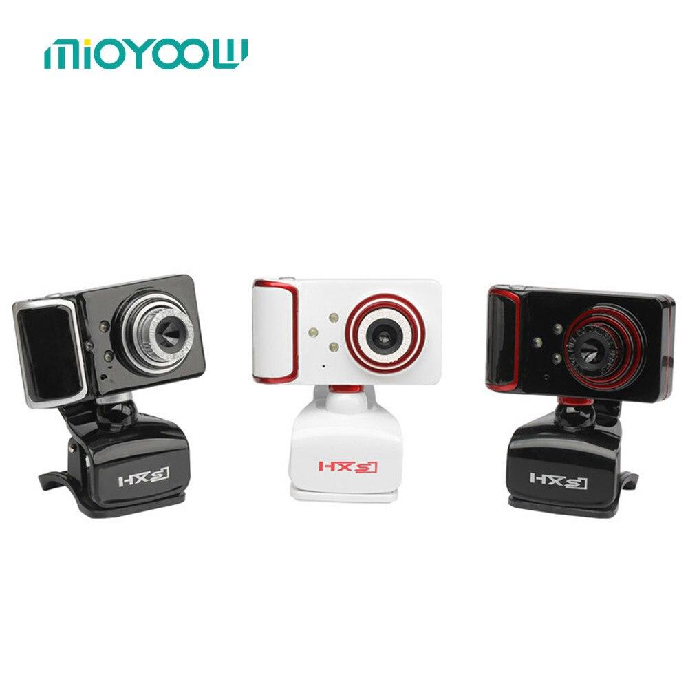 3 светодиодный 16 м пикселей на вращающийся отрегулировать HD веб-Камера Clip-On USB Камера с микрофоном Web Камера для Android ТВ компьютер