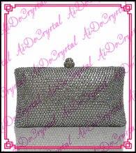 Aidocrystal direkter verkauf der fabrik frau weiß diamant handtasche und schuhe set für party