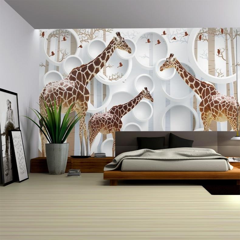 Aliexpress.com : Buy Custom Photo Wallpaper Children Room Large Mural  Bedroom TV Background Wallpaper 3D Non Woven Giraffe Wallpaper From  Reliable Tv ...
