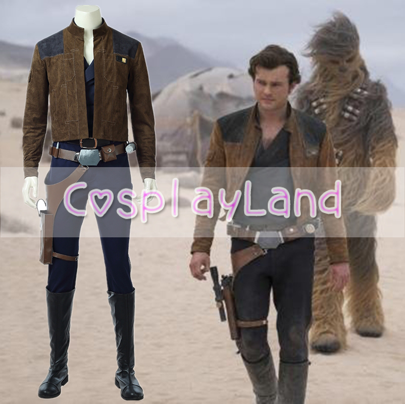 2018 Movie Solo A Star Wars Story Cosplay Costume Men Han Sole Cosplay Costume For Adult Full Set Suit Custom Made Star Wars
