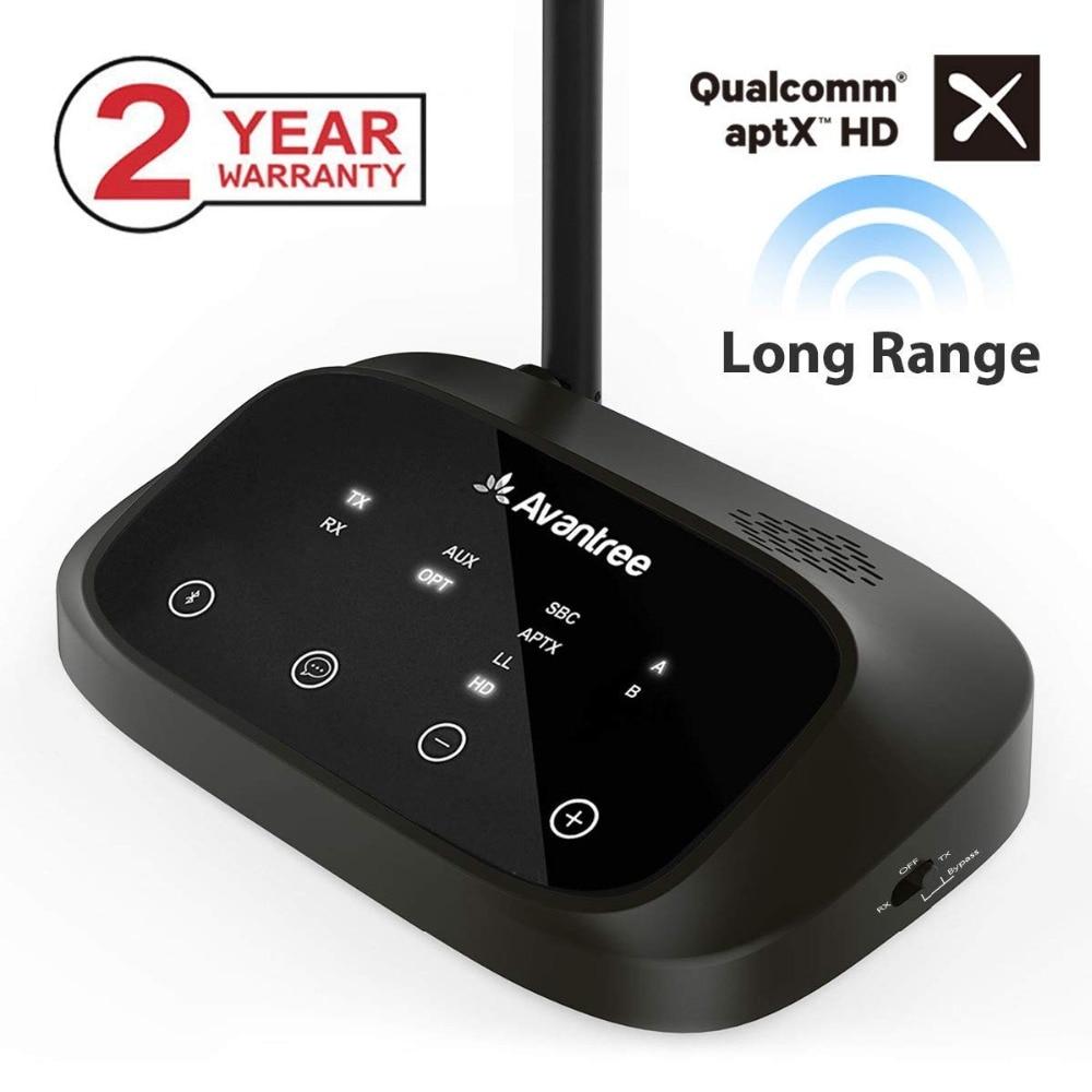 Avantree aptX HD LONG RANGE Transmissor Bluetooth para Áudio TV, Transmissor e Receptor Sem Fio, Desvio e Trabalho Bluetooth