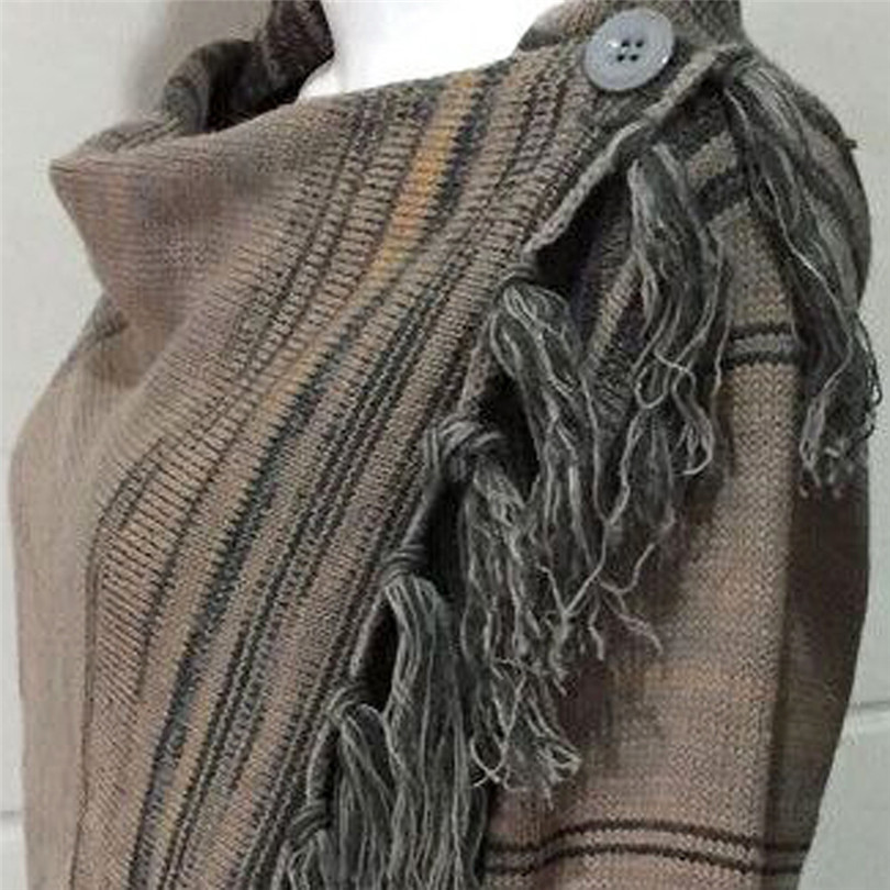 2019 Frauen Winter Quaste Unregelmäßige Strickjacke Gestrickte Elegante Mantel Pullover Poncho Schal Mantel Jacke Casual Outwear