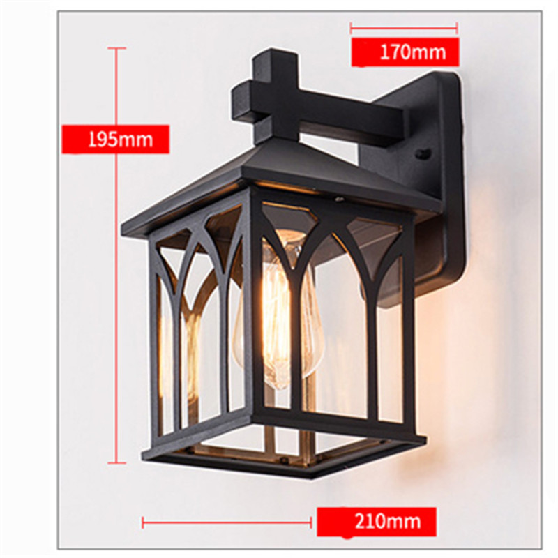 Waterproof LED Wall Lights Antique Outdoor Garden Courtyard Lamp Vintage Balcony Aisle Porch Garland Night Lighting decoration led outdoor wall sconce wall mounted lamp garden porch light bedside lamp balcony sconce aisle light vintage wall sconces