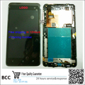 Original Black/White Full LCD Display Touch Screen Digitizer Assembly+frame For HTC Desire 400 T528W One SU free shipping+Track