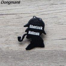 L3563 Шерлок Холмс эмалированные Броши мультфильм творческие