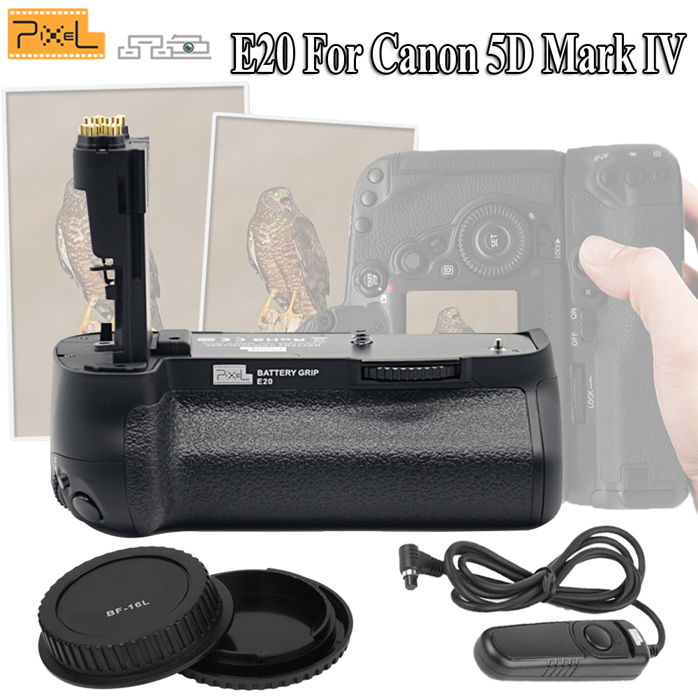 Pixel E20 For Canon 5D Mark IV / 5D4 / 5D MarkIV Camera Professional Battery Grip & Camera Cap & RC-201 Wired Shutter Release