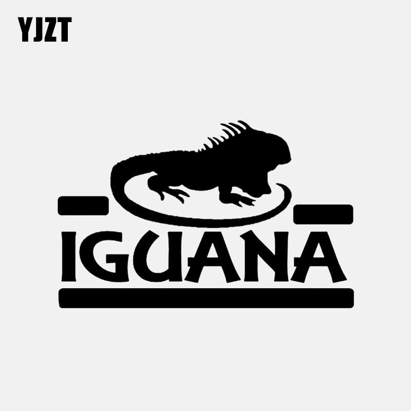 YJZT 13.5*8.6CM Vinyl Lizard Dragon Animal Iguana Decor Car Stickers Accessories High Quality C12-1179