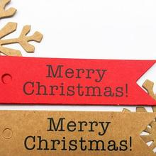 New 100pcs Decorative Merry Christmas Paper Gift Tags Label Hanging Cards DIY Ho